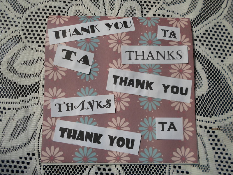 Appearances, Appreciation, Honesty, Thank You