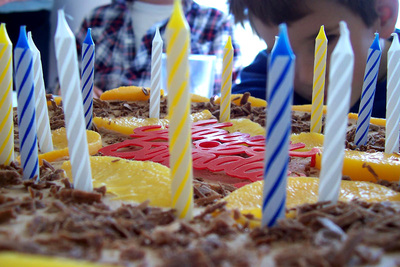 Birthday, cake, candles