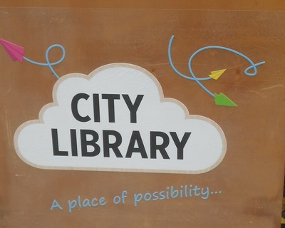 City Library Sign