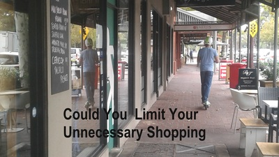 Could you limit your unnecessary shopping