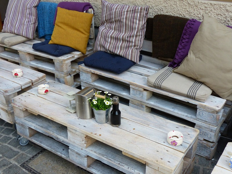 Furniture made from wooden pallets