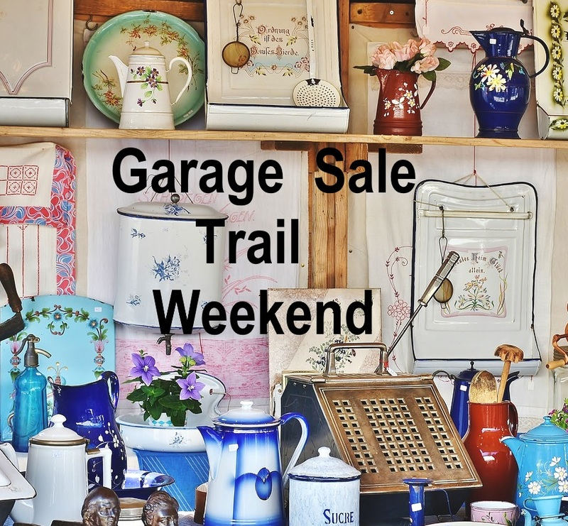 Garage sale trail weekend