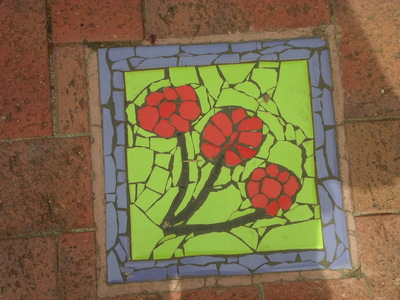 Red Flower Mosaic