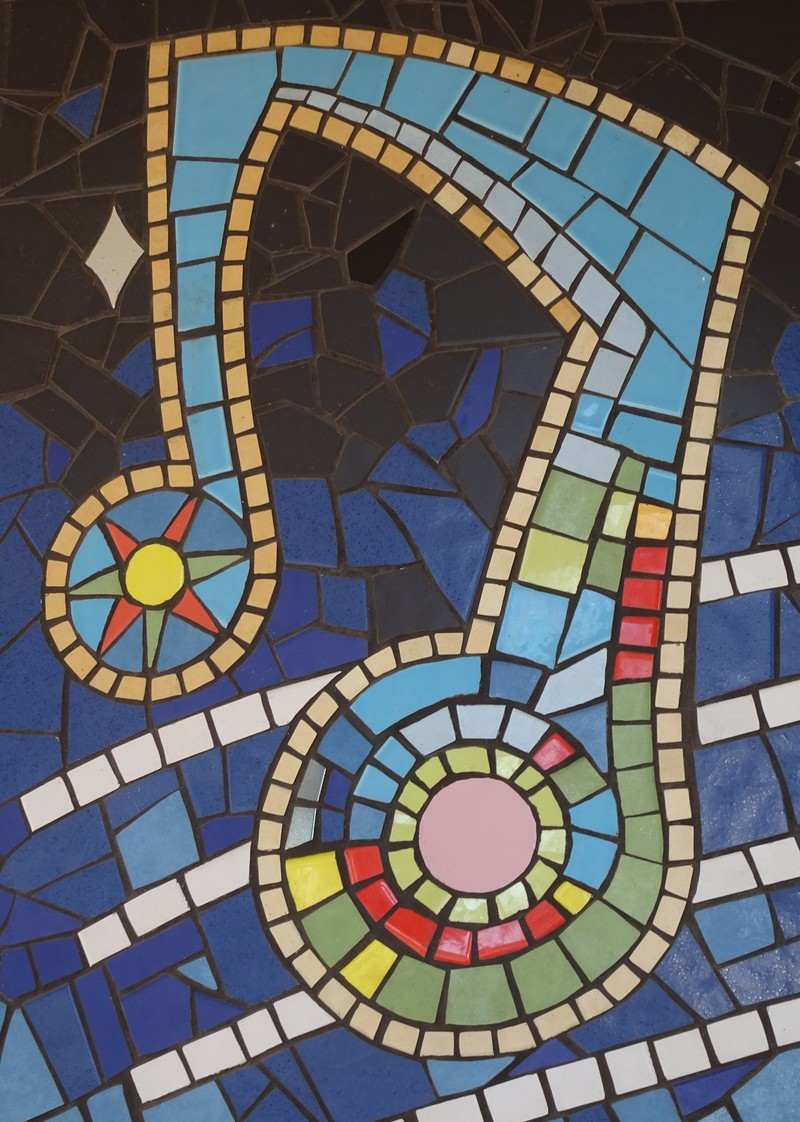 Mosaic street art