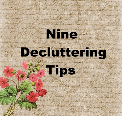 Nine decluttering tips
