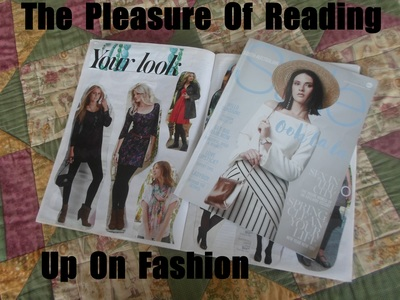 Pleasure Of Reading Up On Fashion