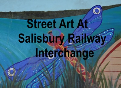 Street art at Salisbury railway interchange