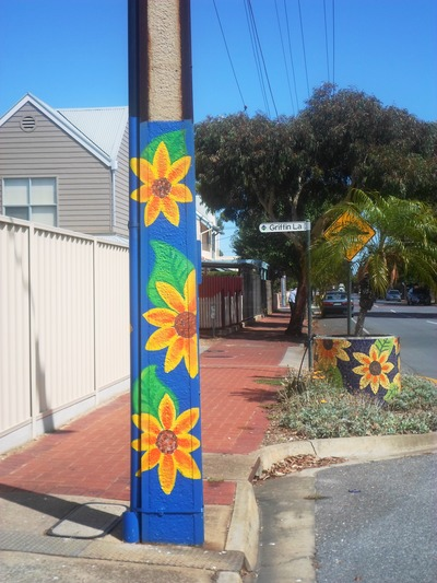 Sunflowers Painted On Stobie