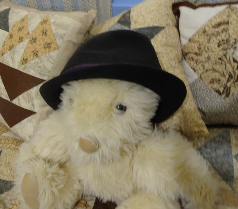 Teddy bear wearing a trilby  - Hats As Accessories
