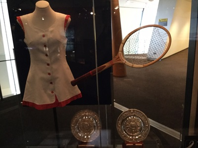 Tennis dress and racquet