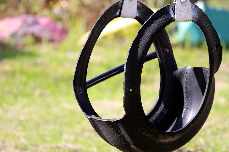 Tyre swing  - The Concept Of Upcycling Isn't New