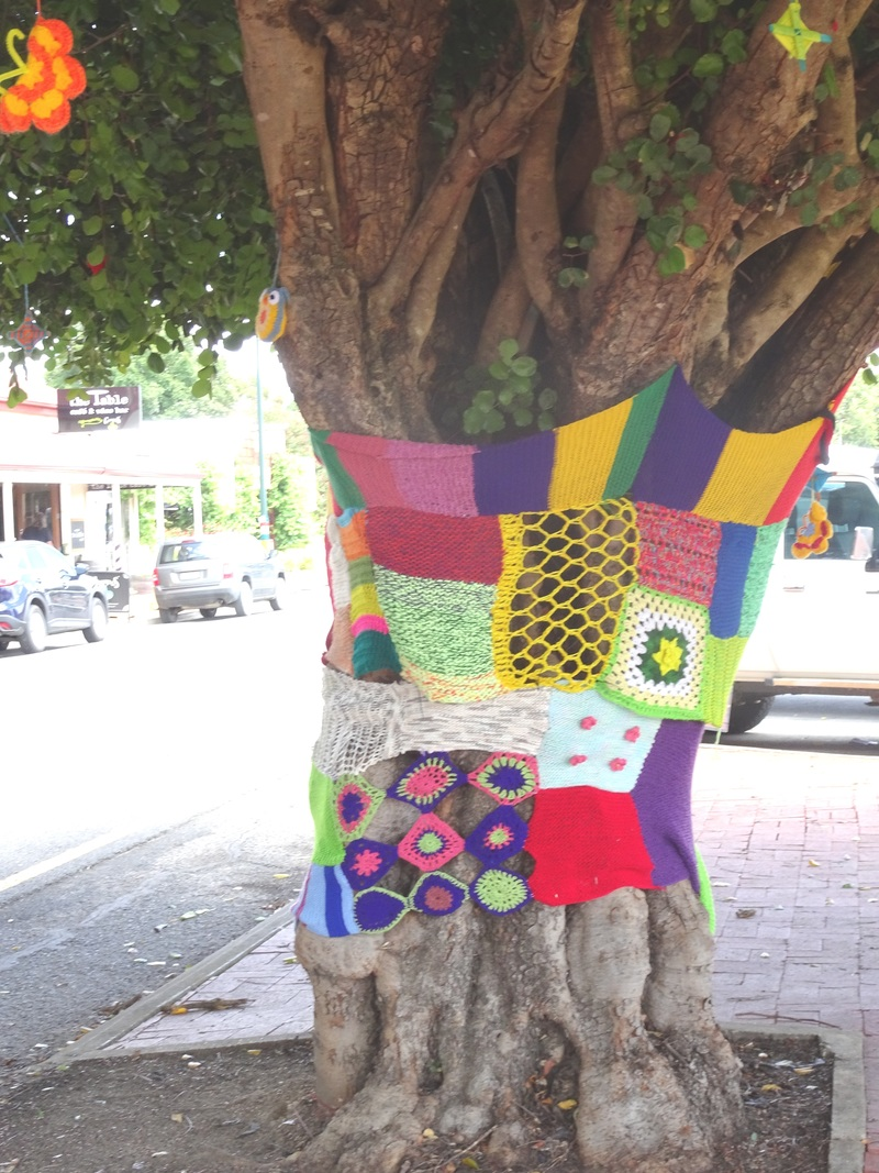 Yarn bombing